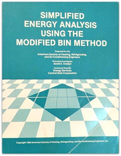 9780910110396: Simplified Energy Analysis Using the Modified Bin Method (Item #90140)