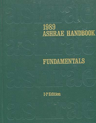 1989 Ashrae Handbook Fundamentals, I-P Edition
