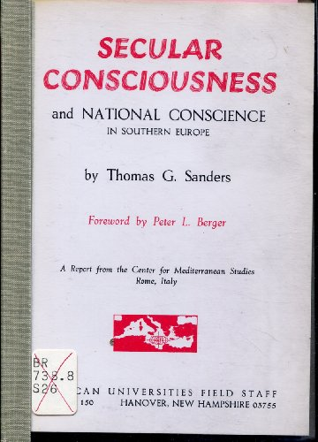 Secular Consciousness and National Conscience: The Church and Political Alternatives in Southern ...