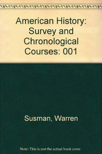 9780910129046: American History: Survey and Chronological Courses (Selected reading lists and course outlines from American colleges and universities)