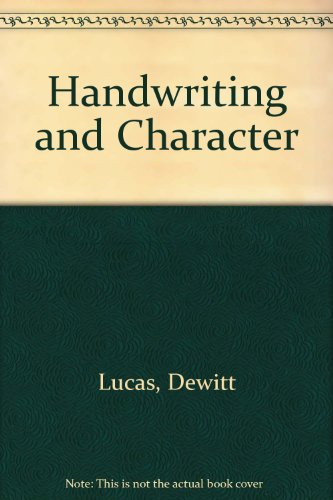 9780910140096: Handwriting and Character