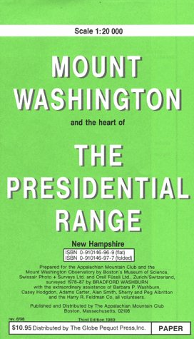 9780910146975: Bradford Washburn's Map of Mt. Washington and the Heart of the Presidential Range