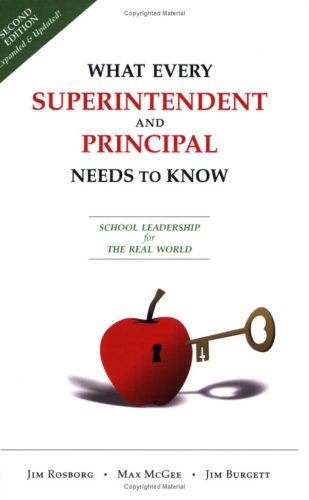 9780910167215: What Every Superintendent and Principal Needs to Know