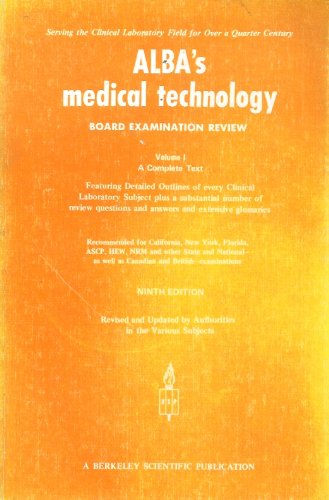9780910224055: Alba's Medical Technology Board Exam Review, 1