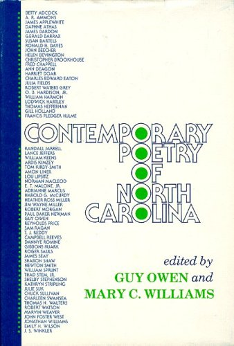 Contemporary Poetry in North Carolina: Owen, Guy And Williams, Mary-Editors