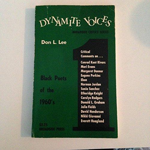 Dynamite Voices, Vol. 1: Black Poets of: Lee, Don L.