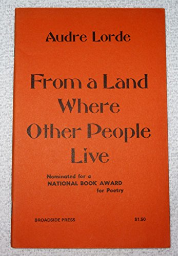 9780910296977: From a Land Where Other People Live (Broadside poets)