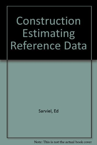 9780910460897: Construction Estimating Reference Data