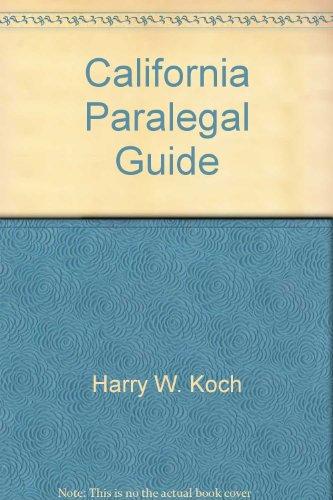 9780910553179: California Paralegal Guide