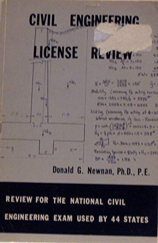 9780910554152: Civil engineering license review: Review for the national civil engineering exam used by 44 states