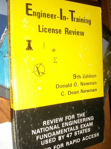 Engineer-in-training license review: Review for the national engineering fundamentals examination ...