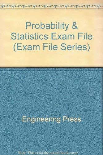 9780910554459: Probability and Statistics Exam File (Exam File Series)