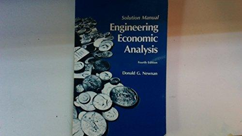 9780910554800: Engineering Economic Analysis: Solution Manual (Engineering Economic Analysis: Solution Manual)