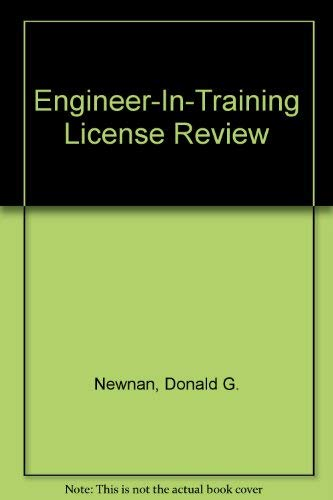 9780910554886: Engineer-In-Training License Review