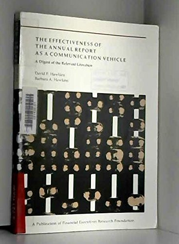 The Effectiveness of the Annual Report As: Hawkins, David F.;
