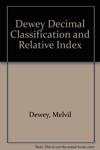 9780910608374: Dewey Decimal Classification and Relative Index, DDC 20 (4-Volume Set)