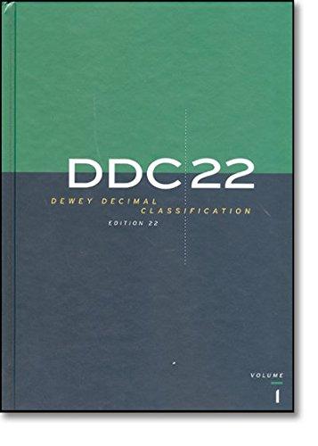9780910608701: DDC 22 Dewey Decimal Classification and Relative Index (Dewey Decimal Classification & Relative Index)