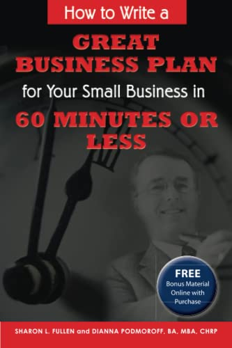 9780910627566: How to Write a Great Business Plan for Your Small Business in 60 Minutes or Less - With Companion CD-ROM