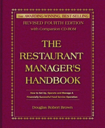 9780910627979: Restaurant Manager's Handbook: How to Set Up, Operate and Manage a Financially Successful Food Service Operation