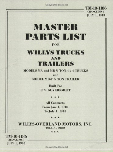 Willys-Overland Jeep Master Parts List: TM-10-1186 (U.S.: Rudolf Steiner; Inc
