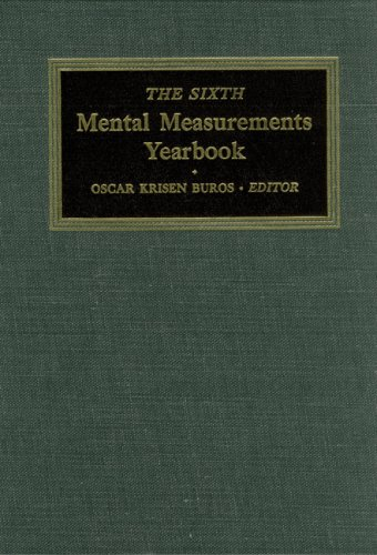 The Sixth Mental Measurements Yearbook (Hardback): Buros Center for Testing