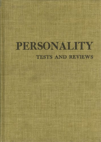 Personality Tests and Reviews I (Hardcover): Buros Institute