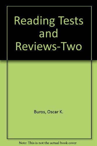 Reading Tests and Reviews-Two: Oscar K. Buros