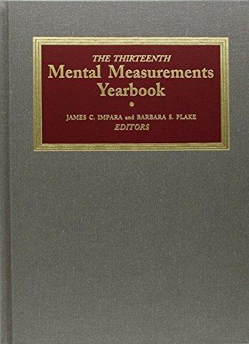 9780910674447: The Thirteenth Mental Measurements Yearbook.