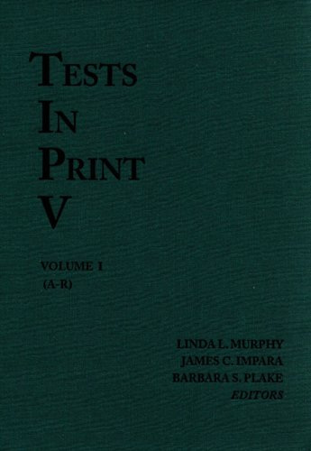 9780910674515: Tests in Print V: An Index to Tests, Test Reviews, and the Literature on Specific Tests (Tests in Print (Buros))