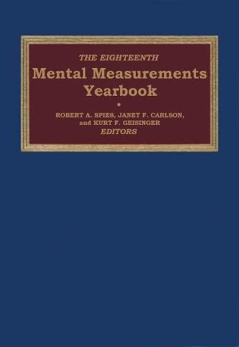 9780910674614: The Eighteenth Mental Measurements Yearbook (Buros Mental Measurements Yearbook)