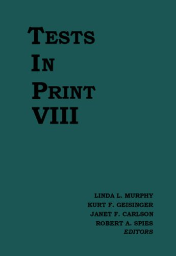 Tests in Print VIII (Hardcover): Buros Center For Testing