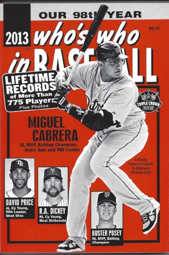 9780910692335: 2013 Who's Who in Baseball