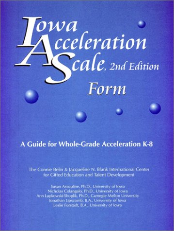 9780910707374: Iowa Acceleration Scale, 2nd Edition (Set of 10 IAS Forms, Summary and Planning Records)