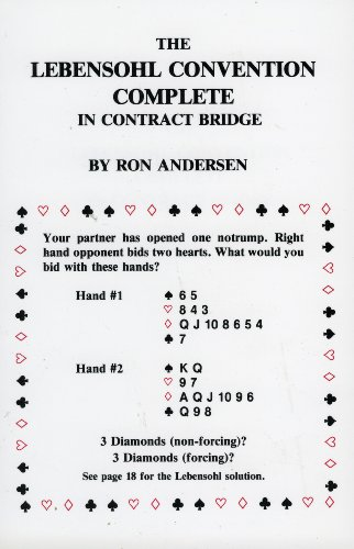 9780910791823: The Lebensohl Convention Complete in Contract Bridge