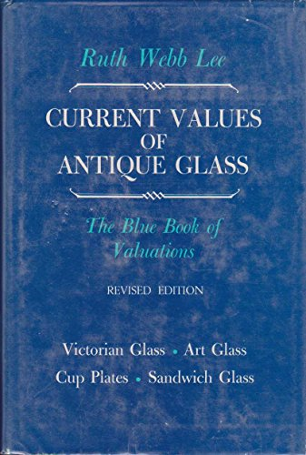 9780910872089: Current values of antique glass: Victorian glass, Sandwich glass, art glass, cup plates;: The blue book of valuations