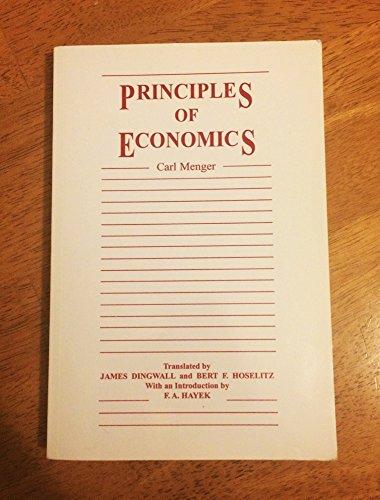 9780910884273: Principles of Economics (Institute for Humane Studies Series in Economic Theory)