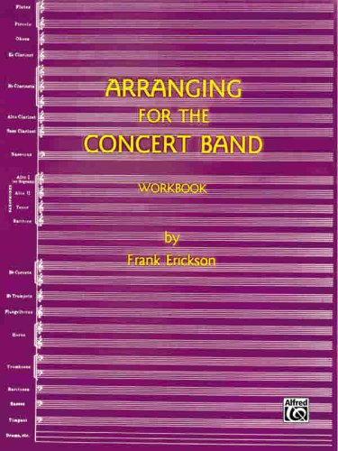 9780910957069: Arranging for the Concert Band (Workbook)