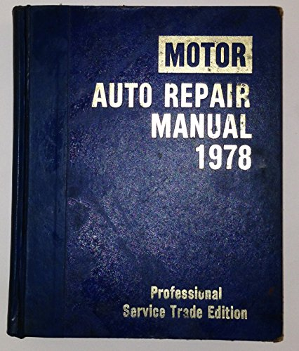 Motor Auto Repair Manual 1978