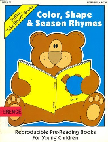 """9780911019285: Totline """"Take-Home"""" Books ~ Color, Shape & Season Rhymes (Reproducible Pre-Reading Books For Young Children)"""