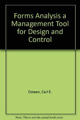 Forms Analysis a Management Tool for Design: Osteen, Carl E.