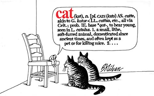 CAT. ( Classic illustrated B&W cartoons, humor & parody)