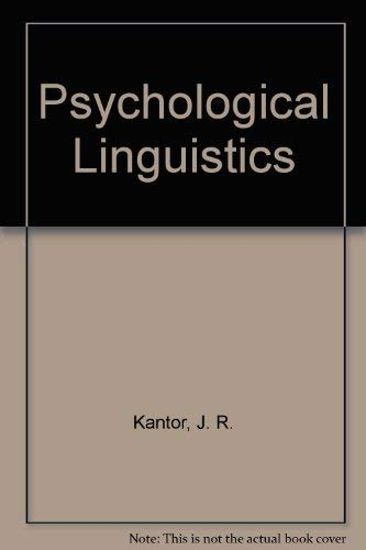 9780911188530: Psychological Linguistics