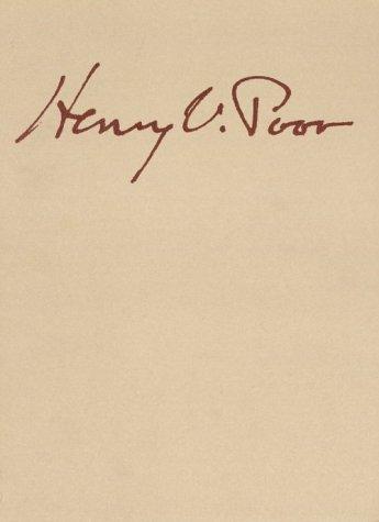 Henry Varnum Poor 1887-1970: A Retrospective Exhibition;: Poor, Henry Varnum,