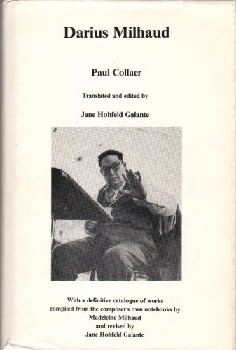 Darius Milhaud (English and French Edition): Paul Collaer