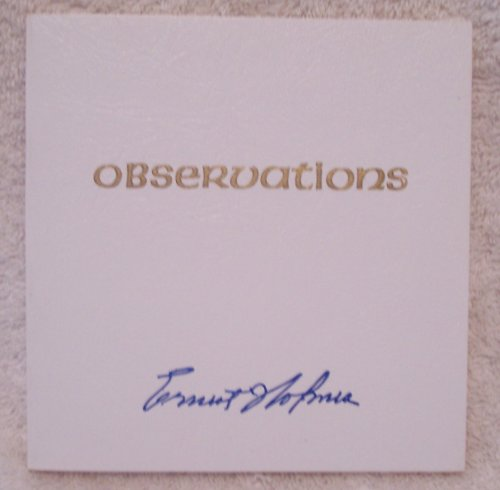 9780911336122: Observations