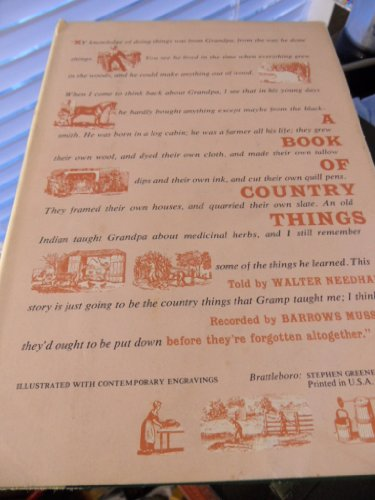 9780911469097: A Book of Country Things
