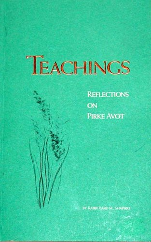 9780911511055: Teachings: Reflections on Pirke Avot