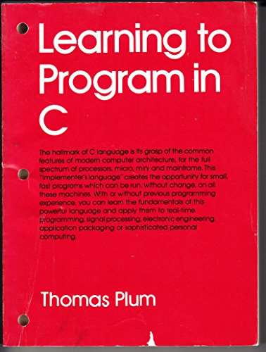 9780911537000: Learning to program in C