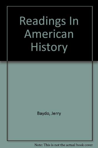 Readings In American History: Baydo, Jerry
