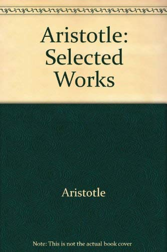9780911589009: Aristotle: Selected Works